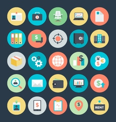 Business colored icons 4 vector