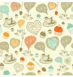 Vintage Tea Time Pattern vector image