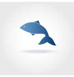 abstract blue fish vector image vector image