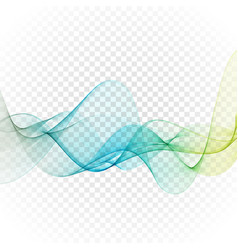 Abstract blue wavy lines colorful vector