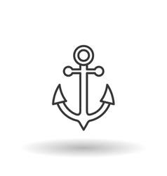 anchor icon design vector image vector image