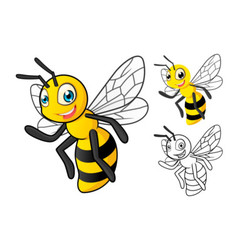 Bee cartoon character vector