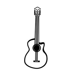 Black icon guitar cartoon vector
