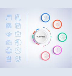 business infographic and icons vector image vector image