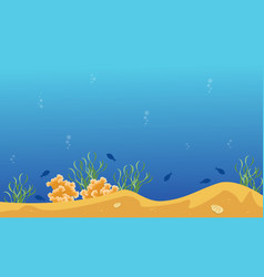 Collection of underwater landscape with reef and vector
