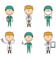 Doctor and health worker characters vector