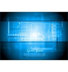 Hi-tech background Gradient mesh vector image vector image