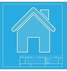 Home silhouette White section of vector image vector image