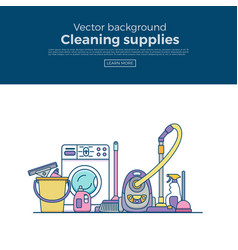 Household cleaning supplies isolated icons vector