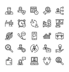 human resources line icons 2 vector image