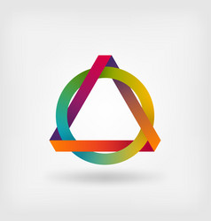 interlocked triangle and ring vector image vector image