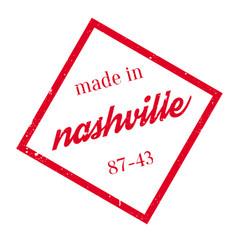 Made in nashville rubber stamp vector