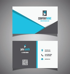 Modern business card design 0906 vector image vector image