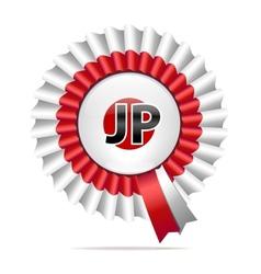 National flag badge jp vector