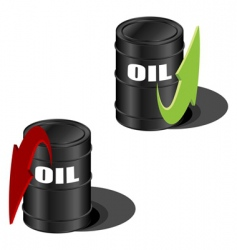 oil prices up and down vector image vector image