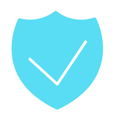 security shield silhouette icon minimal pictogram vector image vector image