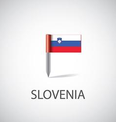 Slovenia flag pin vector