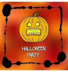 Stock cards template for Halloween party vector image