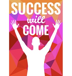 Success theme vector image vector image