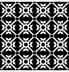 symmetrical flower pattern vector image vector image