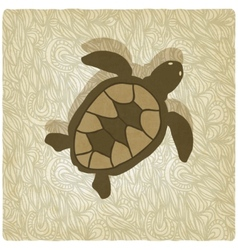 turtle old background vector image