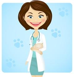 veterinarian vector image