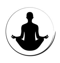 yoga woman icon symbol vector image
