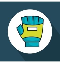 Gloves gym isolated icon vector