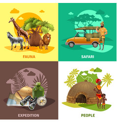 Safari design icon set vector
