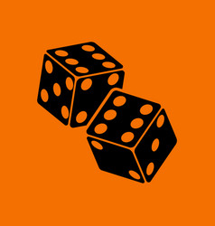 Craps dice icon vector