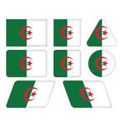 buttons with flag of Algeria vector image