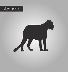 Black and white style icon of panther vector