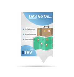 Map and case - label template vector