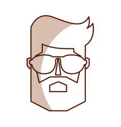 vintage man face cartoon vector image