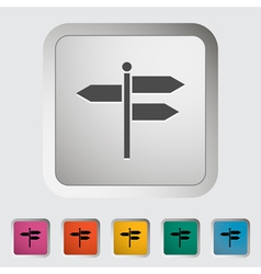 Signpost vector image