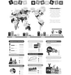 Infographic demographics toy grey vector