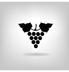 Black silhouette of grapes vector