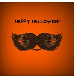 Pumpkin portrait with mustache for vector