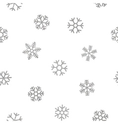 Seamless pattern of falling silver snowflakes vector