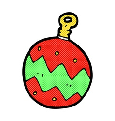 Comic cartoon christmas bauble vector