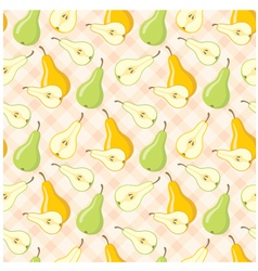 Seamless pears pattern vector