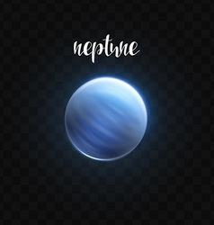 Realistic glowing neptune planet isolated glow vector