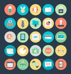 Business colored icons 5 vector