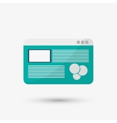 Communication design media icon flat vector