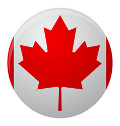 Canada flag icon flat vector