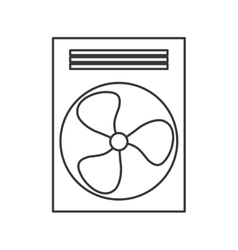 Fan machine design isolated ventilador icon vector
