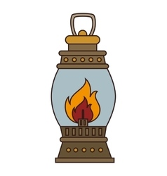 Lantern torch icon design vector