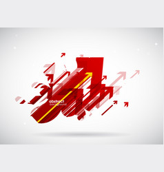 abstract red arrows background wallpaper vector image vector image