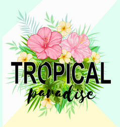 Abstract tropical background vector