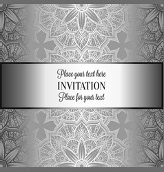 Baroque background with vintage frame vector